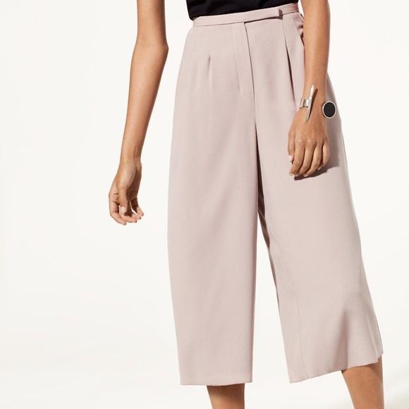 Aritzia Pants - Aritzia Babaton lazarus culottes pants grey pink